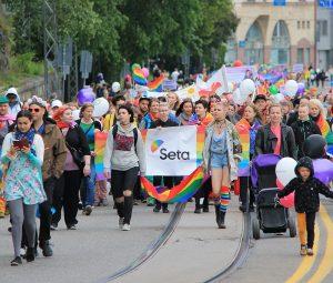 Helsinki Pride march 2018.